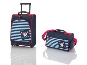 Travelite Youngster – dětská sada kufru a cestovní tašky Pirate  + PowerBanka nebo pouzdro zdarma