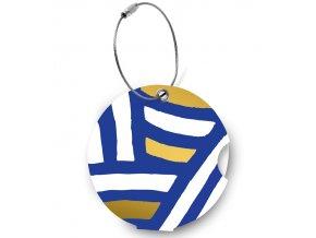 Jmenovka na kufr Addatag - Zebra blue