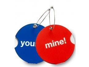 Jmenovky na zavadlo Duo Pack Mine&Yours