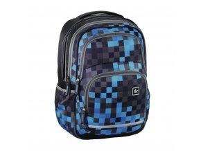 Školní batoh All Out Blaby, Blue Pixel  + Pouzdro zdarma