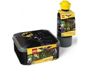 LEGO Batman svačinový set (láhev a box) - černá
